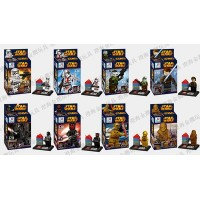 8pcs/set Star Wars Clone troopers Super Heroes Minifigures Building Bricks Blocks Sets Education Toys