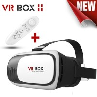 VR BOX 2.0 Cardboard VR Virtual Reality 3D Glasses with Bluetooth Remote Control for 3.5 to 6.0 Inch Smartphone