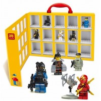 2016 LELE Portable Mini figures house Minifigures Showcase Building Blocks Toys Storage Box Compatible With Leg0