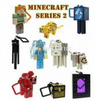 Exquisite Packaging Minecraft keychain 10pcs/set Hangers Series 2 Figure Toys Models creeper Keychain Brinquedos Gift