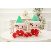 10 pcs one lot Christmas Decoration Snowman Christmas elf doll plush toys Christmas gift tossed present campaign