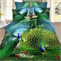 7 style 2016 New Polyester Duvet Cover Set Polyester Printed Europe Home 4 Pcs Flat Screen Print 3D bedding Set