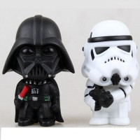 2Pcs/Set New Black Knight Darth Vader Stormtrooper PVC Action Figures Star Wars Figures Toy DIY Educational Toys Free Shipping