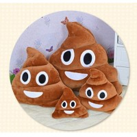 New fashion emoji pooh cushion Cute Funny Emoji Cushion Poo Shape Pillow Stuffed Doll Toys Xmas Christmas Gifts