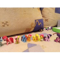 12/5-6cm/set Toy Collection pawl Cute patroled PVC Unicorn Poni Toys my little pony For Children Birthday Holiday Christmas doll Gift
