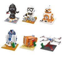 2016 new fashion Star Wars BB-8 R2D2 Darth Vader Storm Trooper Blocks The Force Awaknes Educational Toy Model Building Kits Compatible T295