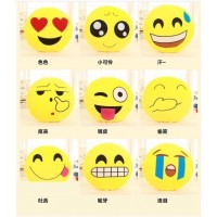 4pcs one lot 18 Style Funny Big emoji pillow Round Cushion smiley Soft Doll Toy Stuffed Plush Home Decoration