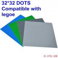 5 pcs one lot Hot Sale Blocks Baseplate with Size 10.43*10.43 inch of 32*32 dot Minifigures Bricks Base plate 4 Colors