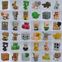 Set of 36 pieces Minecraft Mini Figures Obsidian 4 Series - Includes Spawning Spider Tabby Cat Slime Cubes Sneaking Creeper etc NEWEST