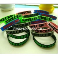 Hot 100 pcs/lot Minecraft Bracelets model 5 color unisex sports minecraft Silicone Bracelet model Party Favors kids gifts MC