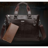 Men's new men's tote handbag shoulder bag 14-inch computer bag business briefcase