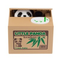 New Cute Panda Automatic Stole Coin Piggy Bank 11.5x9.5x9cm Size Money Saving Box Moneybox Gifts for Kids