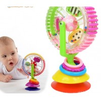 Sassy tricolor Ferris wheel rotating windmill baby toys sucker
