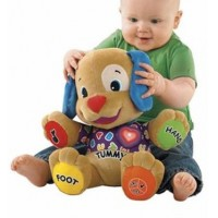 Red dog early plush toy Talking Singing baby doll puzzle B1