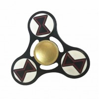 Black Widow Alloy Tri Fidget Hand Spinner Triangle Finger EDC Focus Stress ADHD Gyro Toy