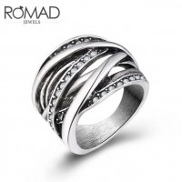 ROMAD Fashion New Plated Alloy Women's Ring with Clear Zircon