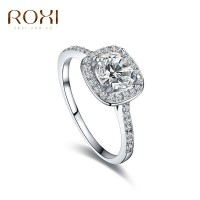 ROXI Platinum Plated Copper Clear Zircon Women's Ring for Wedding Engagement
