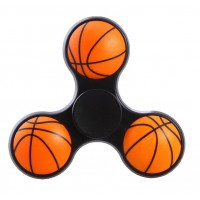 Basketball Tri Fidget Hand Spinner Triangle Finger EDC Focus Stress ADHD Gyro Toy Black