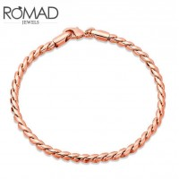 ROMAD Fashion Rose Gold Plated Alloy Twisted Rope Design Chain BraceletROMAD Fashion Rose Gold Plated Alloy Twisted Rope Design Chain Bracelet<br>