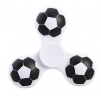 Football Tri Fidget Hand Spinner Triangle Finger EDC Focus Stress ADHD Gyro Toy White