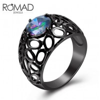 ROMAD Fashion Hollow Style New Plated Brass Womens Ring with Glass StoneROMAD Fashion Hollow Style New Plated Brass Womens Ring with Glass Stone<br>
