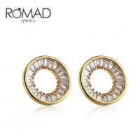 ROMAD Fashion New Alloy Round Women's Pierce Earring Stud