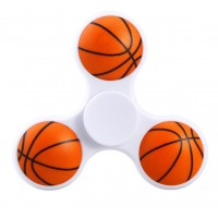 Basketball Tri Fidget Hand Spinner Triangle Finger EDC Focus Stress ADHD Gyro Toy White
