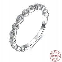 ROMAD 925 Silver Zircon Women's Ring for Wedding Engagement