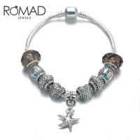 ROMAD Fashion New Alloy Womens Bracelet Wrist Chain with Starfish PendantROMAD Fashion New Alloy Womens Bracelet Wrist Chain with Starfish Pendant<br>
