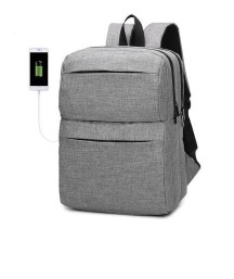 Men Chic Water-resistant Laptop Backpack with USB PortMen Chic Water-resistant Laptop Backpack with USB Port<br>