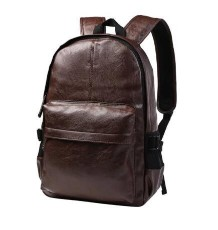 Leisure Zipper and PU Leather Design Backpack For MenLeisure Zipper and PU Leather Design Backpack For Men<br>