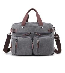 Multi Zips Canvas Tote BagMulti Zips Canvas Tote Bag<br>