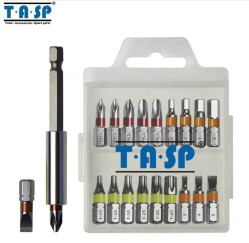 TASP 20PC Colour Coded Screwdriver Bit Set Head PH Torx Flat Hex with Magnetic HolderTASP 20PC Colour Coded Screwdriver Bit Set Head PH Torx Flat Hex with Magnetic Holder<br>