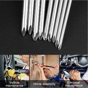 9pcs X Magnetic Philips Screwdriver Set 1/4 Inch 6.35mm Shank S2 Alloy Steel 100mm Long Magnetic Hex Screwdriver Bit Set9pcs X Magnetic Philips Screwdriver Set 1/4 Inch 6.35mm Shank S2 Alloy Steel 100mm Long Magnetic Hex Screwdriver Bit Set<br>