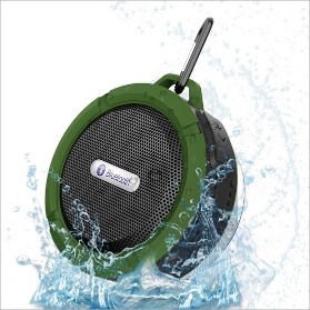 Wireless Waterproof Speaker with 5W Driver, Suction Cup, Built-in Mic, Hands-Free SpeakerphoneWireless Waterproof Speaker with 5W Driver, Suction Cup, Built-in Mic, Hands-Free Speakerphone<br>