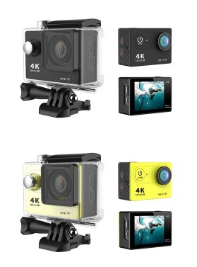 4K WIFI Sports Action Camera Ultra HD Waterproof DV Camcorder 12MP 170 Degree Wide Angle4K WIFI Sports Action Camera Ultra HD Waterproof DV Camcorder 12MP 170 Degree Wide Angle<br>
