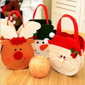 3PCS Portable Christmas Candy Bags Santa Claus Gift Bags Gift Baskets with Handle for Holiday Home Decoration3PCS Portable Christmas Candy Bags Santa Claus Gift Bags Gift Baskets with Handle for Holiday Home Decoration<br>