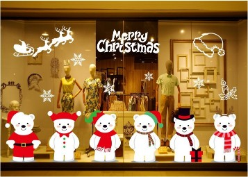 Christmas Window Decals Stickers Self-adhesive Decorative Glass Window DecorationsChristmas Window Decals Stickers Self-adhesive Decorative Glass Window Decorations<br>