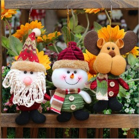 3PCS Christmas Handmade Decor Dolls Santa Claus Snowman Reindeer Hanging Ornaments Table Decorations Gift3PCS Christmas Handmade Decor Dolls Santa Claus Snowman Reindeer Hanging Ornaments Table Decorations Gift<br>