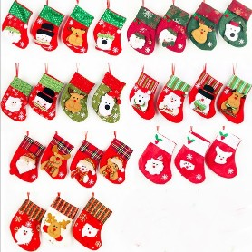 5PCS Christmas Santa Stockings Candy Bag5PCS Christmas Santa Stockings Candy Bag<br>