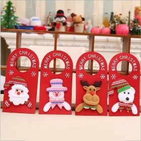 4PCS Christmas Door Handle Ornaments Snowman Santa Claus Bear Deer for Holiday Party Home Store Hotel Office Decoration4PCS Christmas Door Handle Ornaments Snowman Santa Claus Bear Deer for Holiday Party Home Store Hotel Office Decoration<br>
