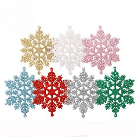 12Pcs Glitter Snowflake Christmas Ornaments Tree Hanging Decoration12Pcs Glitter Snowflake Christmas Ornaments Tree Hanging Decoration<br>