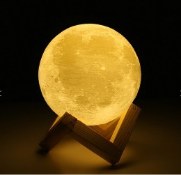 3D Printing Moon LED Night Lamp 2 color change with USB Charging for Home Decoration3D Printing Moon LED Night Lamp 2 color change with USB Charging for Home Decoration<br>