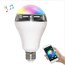 TS-D03 Smart Wireless Bluetooth Speaker Lamp LED Bulb E27 3W with RGB LED Light APP Control for iPhone AndroidTS-D03 Smart Wireless Bluetooth Speaker Lamp LED Bulb E27 3W with RGB LED Light APP Control for iPhone Android<br>
