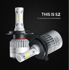 2PCS LED Headlight Bulbs S2 Series 72W 8000LM 6000k with COB Chips2PCS LED Headlight Bulbs S2 Series 72W 8000LM 6000k with COB Chips<br>