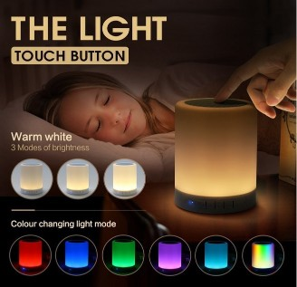 Bluetooth Music Speaker Lamp Portable Smart Touch LED Night Light Music PlayerBluetooth Music Speaker Lamp Portable Smart Touch LED Night Light Music Player<br>