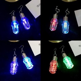 3 Pairs Bulb Shape Stainless Steel LED Earring3 Pairs Bulb Shape Stainless Steel LED Earring<br>