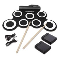 Portable Electronic Drum Pad kits Foldable Practice InstrumentPortable Electronic Drum Pad kits Foldable Practice Instrument<br>