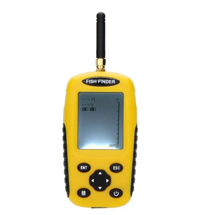 TL95E Dot Matrix LCD Rechargeable Wireless Portable Fish Finder Fishing Depth Sonar Sensor Alarm TransducerTL95E Dot Matrix LCD Rechargeable Wireless Portable Fish Finder Fishing Depth Sonar Sensor Alarm Transducer<br>