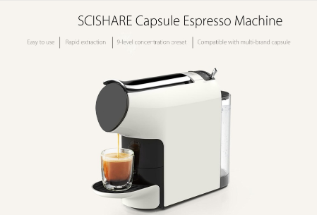 SCISHARE Capsule Espresso Coffee Machine Coffee MakerSCISHARE Capsule Espresso Coffee Machine Coffee Maker<br>